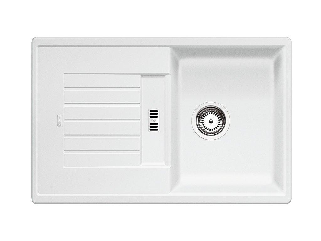 Kuchyňský granitový dřez Blanco ZIA 45 S bílá  + Čistící prostředek BLANCO ANTIKALK 30 ml