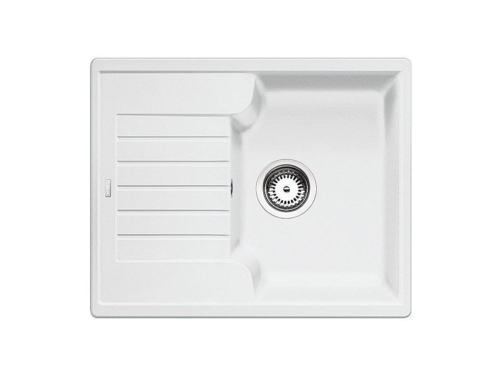 Kuchyňský granitový dřez Blanco ZIA 40 S bílá  + Čistící prostředek BLANCO ANTIKALK 30 ml