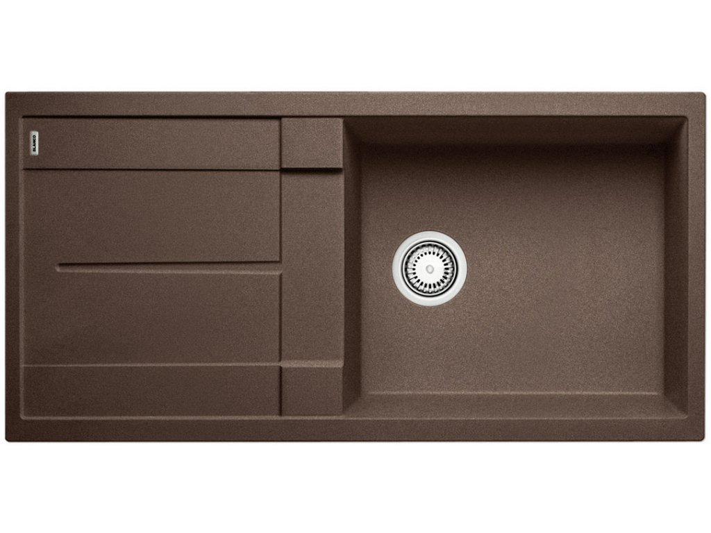 Kuchyňský granitový dřez Blanco METRA XL 6 S kávová  + Čistící prostředek BLANCO ANTIKALK 30 ml