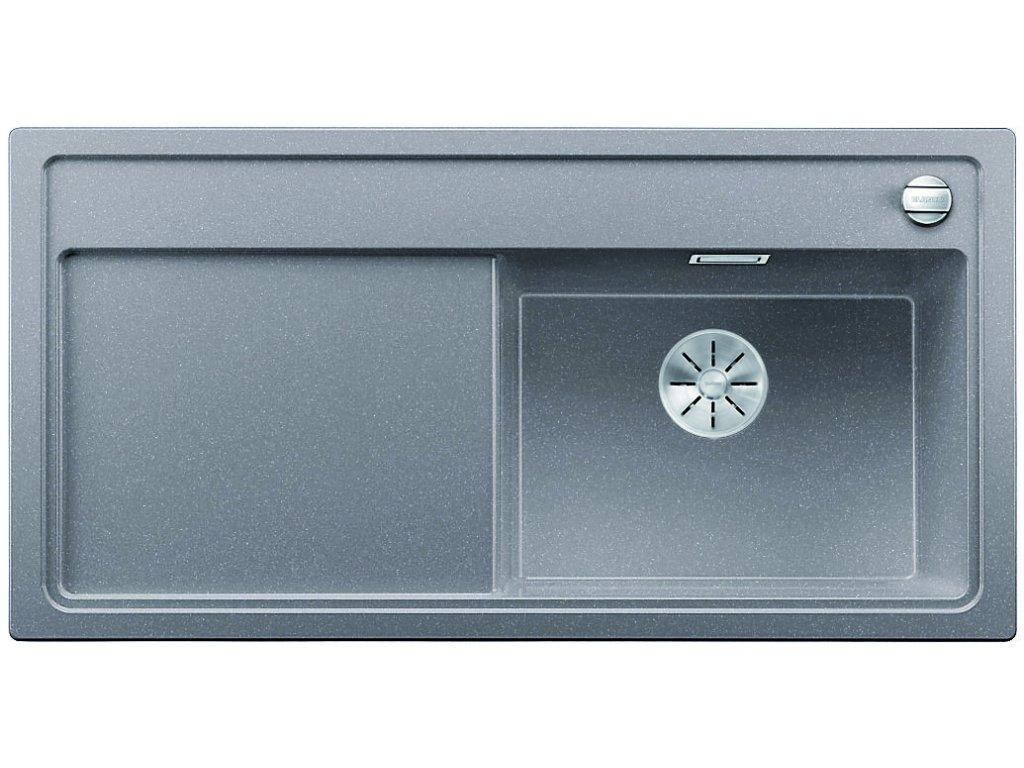 Granitový dřez Blanco ZENAR XL 6 S aluminium dřez vpravo  + Čistící prostředek BLANCO ANTIKALK 30 ml