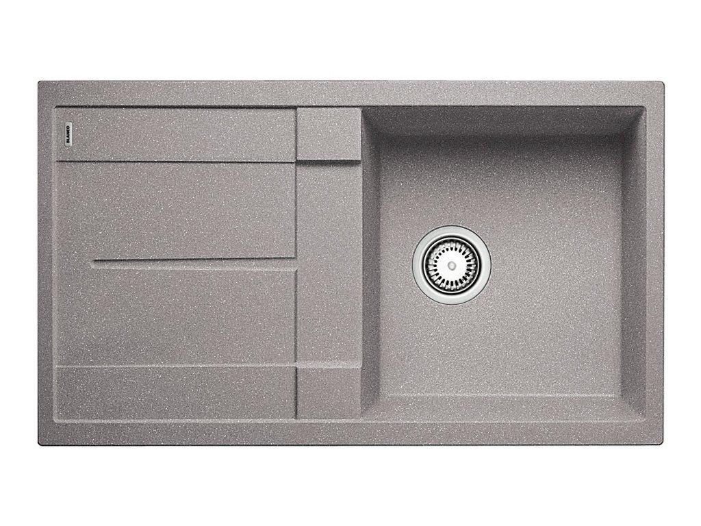 Kuchyňský granitový dřez Blanco METRA 5 S aluminium  + Čistící prostředek BLANCO ANTIKALK 30 ml