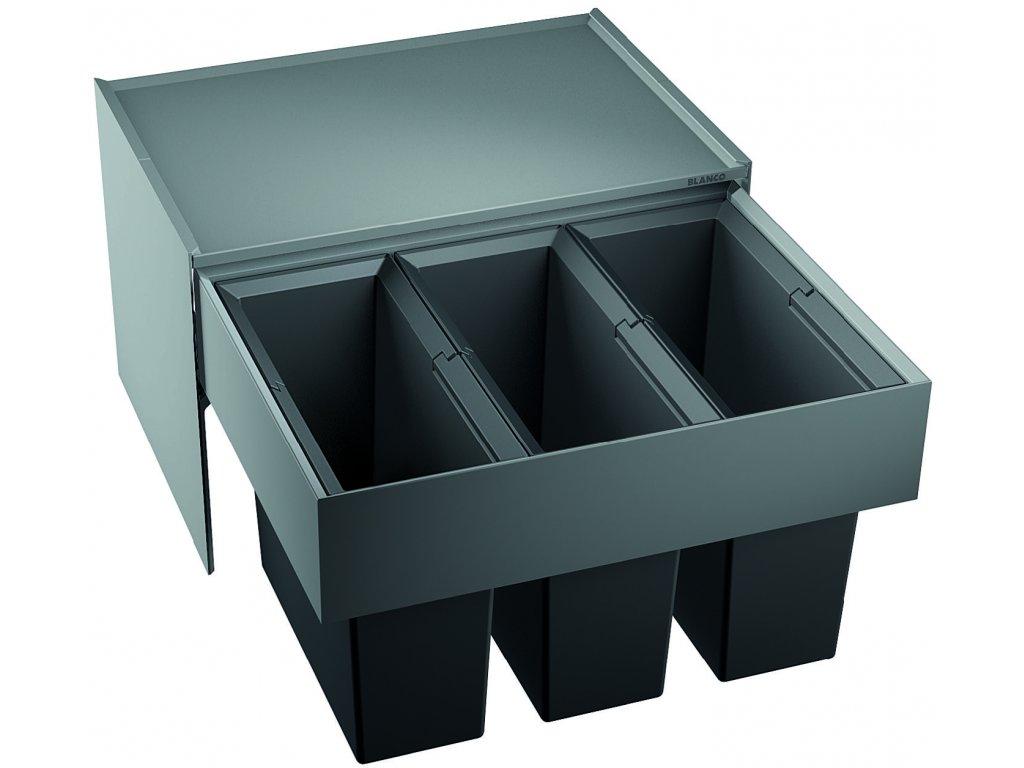 Odpadkový koš Blanco SELECT 60/3 3x15 L  + Čistící prostředek BLANCO ANTIKALK 30 ml