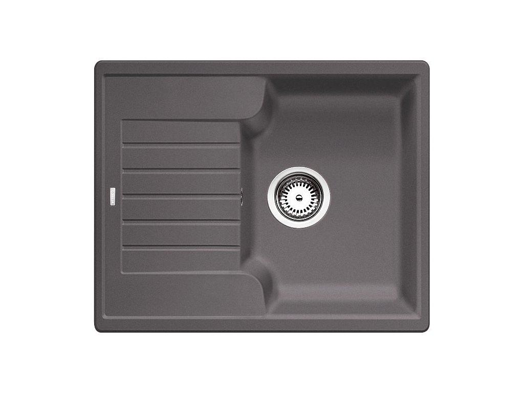 Kuchyňský granitový dřez Blanco ZIA 40 S šedá skála  + Čistící prostředek BLANCO ANTIKALK 30 ml