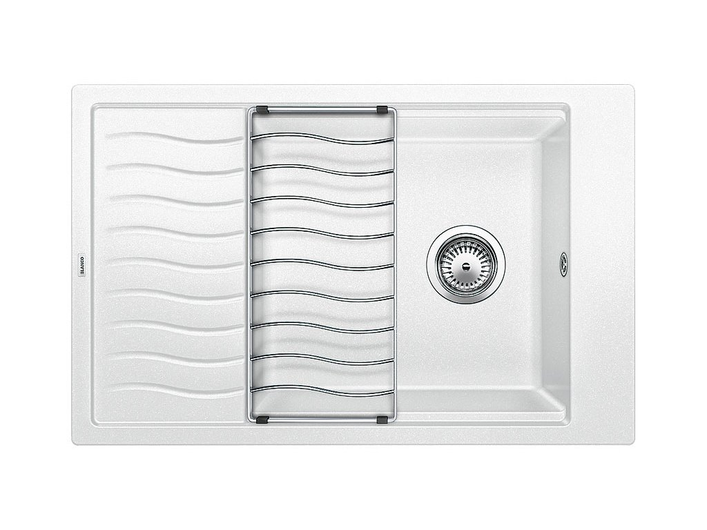 Kuchyňský granitový dřez Blanco ELON XL 6 S bílá  + Čistící prostředek BLANCO ANTIKALK 30 ml