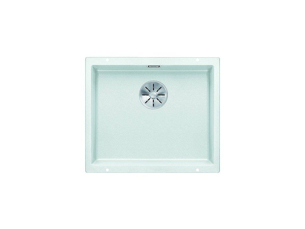 Kuchyňský granitový dřez Blanco SUBLINE 500-U bílá bez excentru  + Čistící prostředek BLANCO ANTIKALK 30 ml