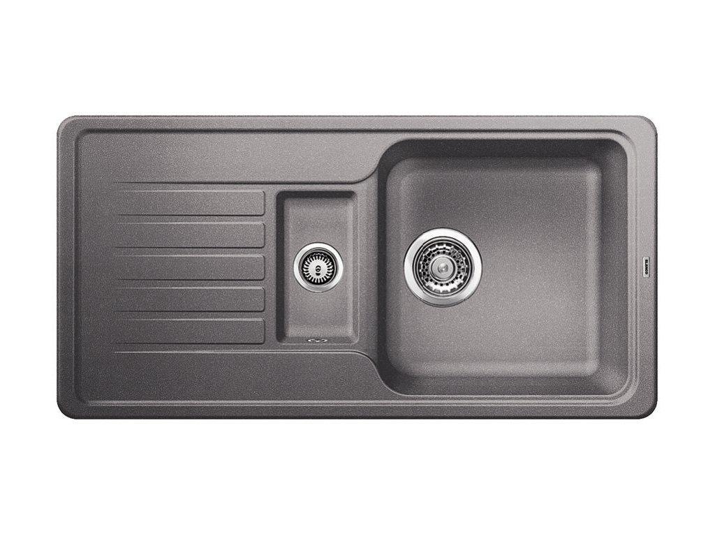 Kuchyňský granitový dřez Blanco FAVOS 6 S aluminium  + Čistící prostředek BLANCO ANTIKALK 30 ml