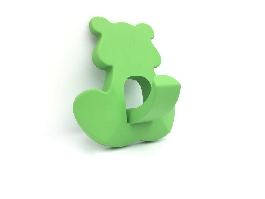 Nábytkový dětský věšák Medvídek zelený