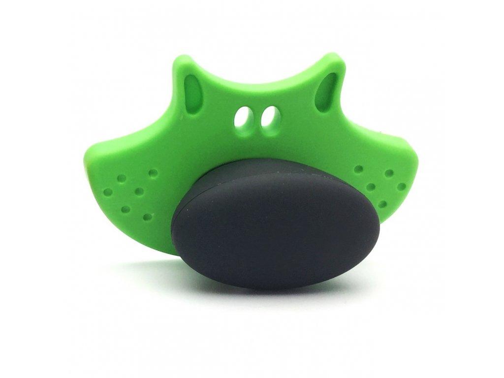 Nábytková dětská úchytka Joy zelená/černá