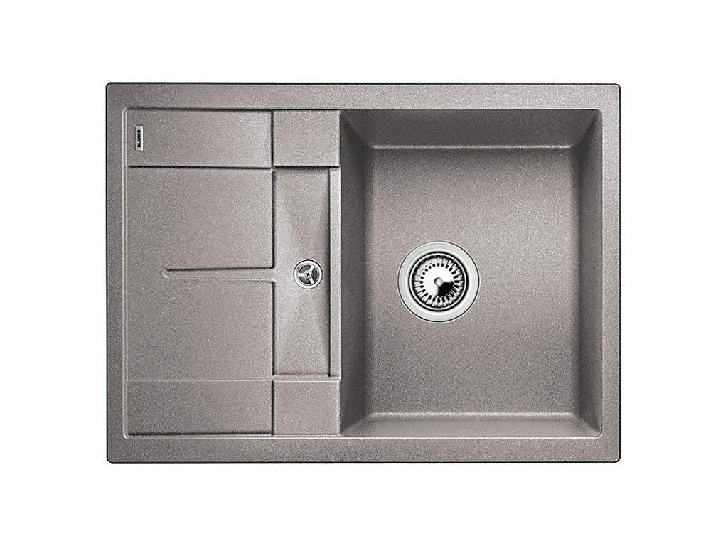 Kuchyňský granitový dřez Blanco METRA 45 S Compact aluminium  + Čistící prostředek BLANCO ANTIKALK 30 ml