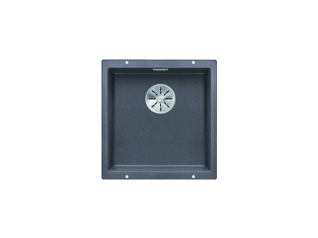 Kuchyňský granitový dřez Blanco SUBLINE 400-U šedá skála  + Čistící prostředek BLANCO ANTIKALK 30 ml