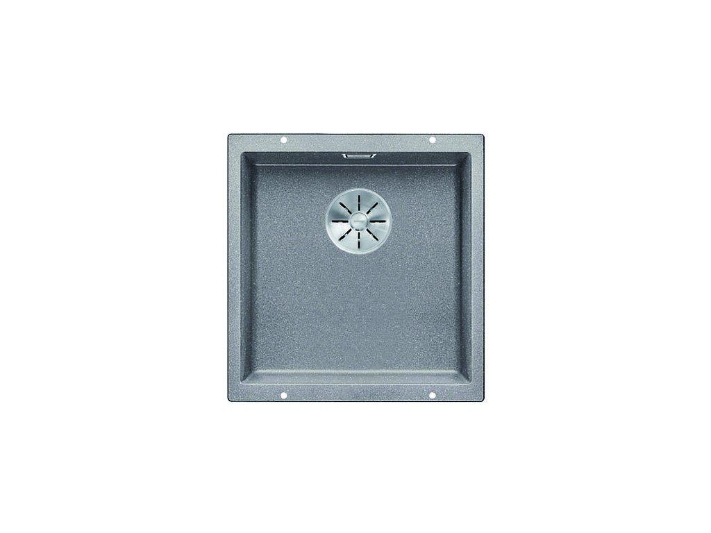 Kuchyňský granitový dřez Blanco SUBLINE 400-U aluminium  + Čistící prostředek BLANCO ANTIKALK 30 ml