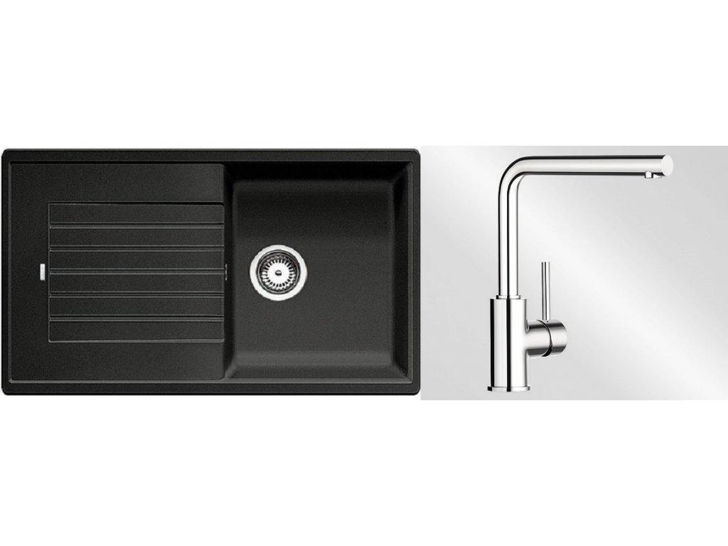 Kuchyňský set Blanco dřez ZIA 5 S antracit + baterie Mila  + Čistící prostředek BLANCO ANTIKALK 30 ml