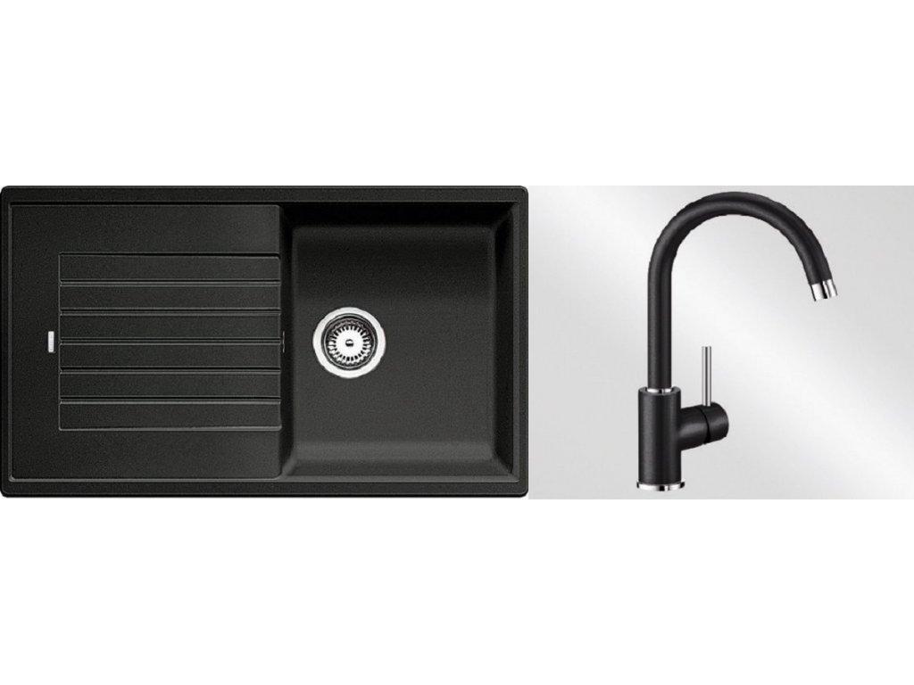 Kuchyňský set Blanco dřez ZIA 5 S antracit + baterie Mida  + Čistící prostředek BLANCO ANTIKALK 30 ml