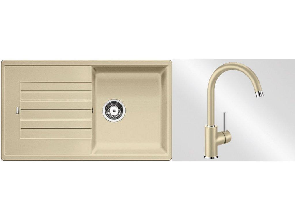 Kuchyňský set Blanco dřez ZIA 5 S béžová champagne + baterie Mida