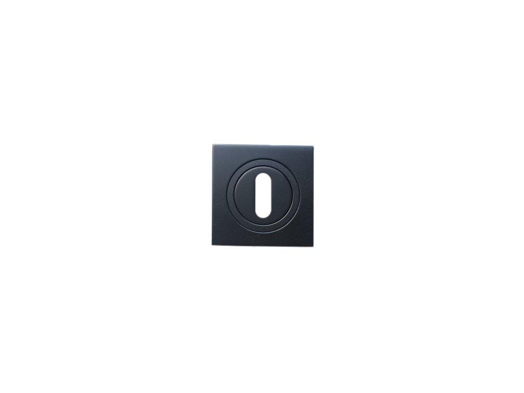 Dveřní rozeta typ 25KW BB grafit černá