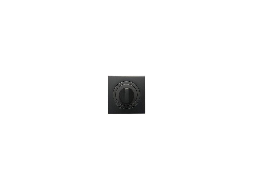 Dveřní rozeta typ 25KW WC grafit černá