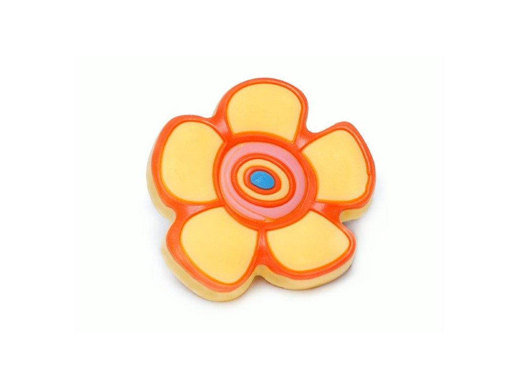 nabytkova detska uchytka kvetina zluta
