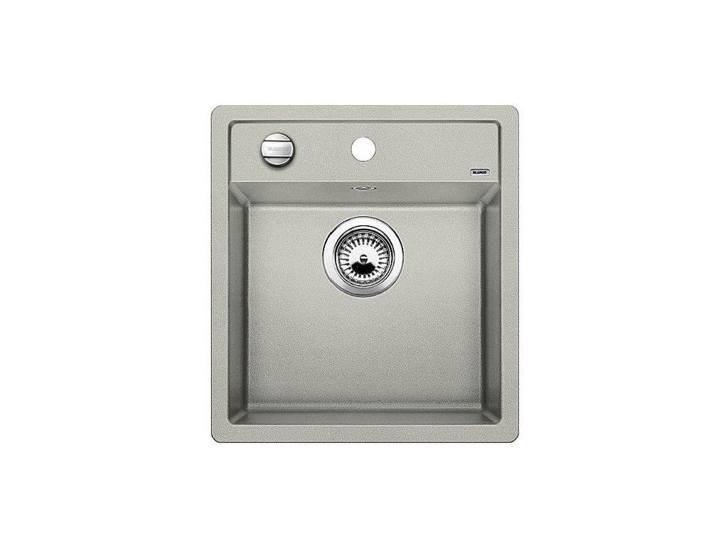Granitový dřez Blanco DALAGO 45 perlově šedá s excentrem  + Čistící prostředek BLANCO ANTIKALK 30 ml