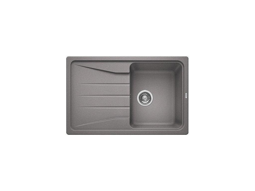 Kuchyňský granitový dřez Blanco SONA 45 S aluminium  + Čistící prostředek BLANCO ANTIKALK 30 ml