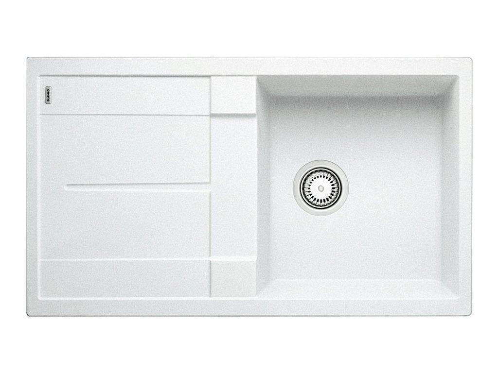 Kuchyňský granitový dřez Blanco METRA 5 S bílá  + Čistící prostředek BLANCO ANTIKALK 30 ml