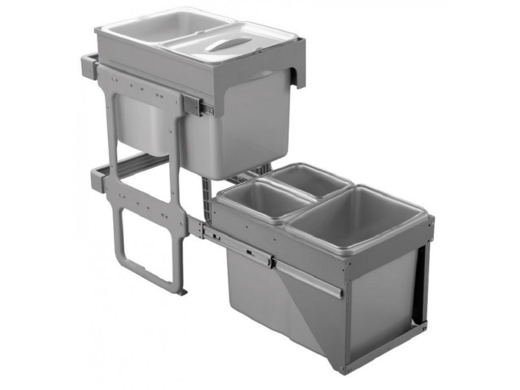 odpadkovy kos sinks tandem front 40 anta unica ek9106 2x 8 l+3x 16l