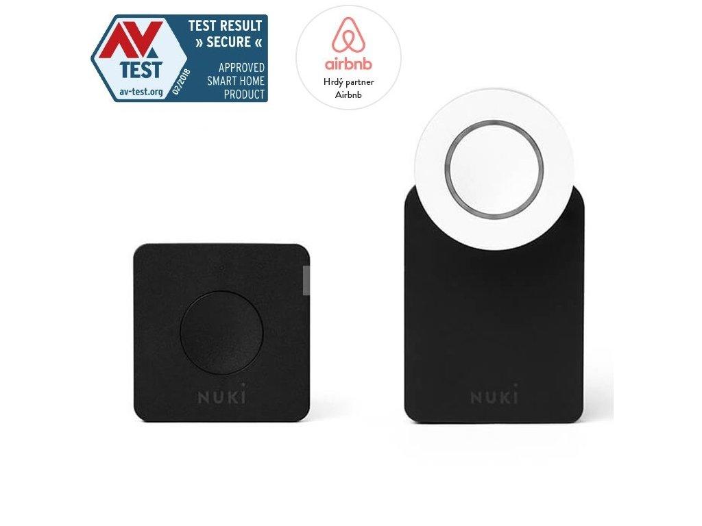 Elektronický zámek NUKI Smart Lock + Bridge - Combo  + Vůně do bytu Areon 85ml