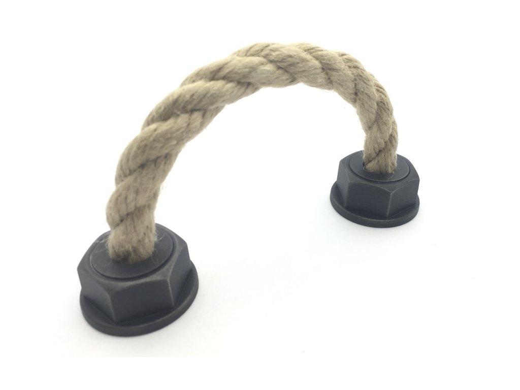 nabytkova uchytka spaccata starostribro s provazem