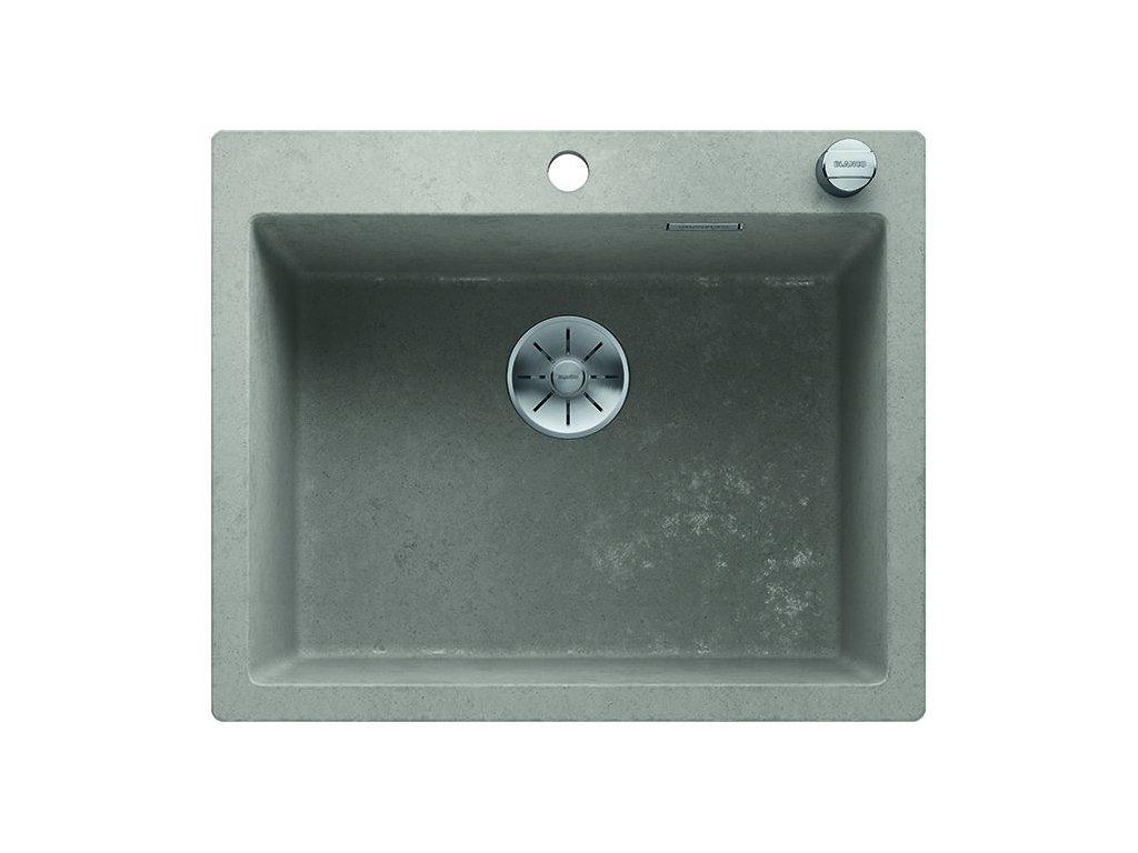 Granitový dřez Blanco PLEON 6 Beton-Style s excentrem
