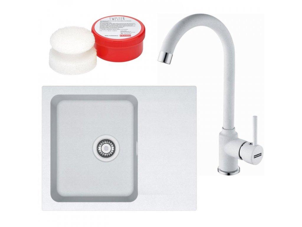 Kuchyňský set Franke T29 (dřez OID 611-62 + baterie FP 9400 + Twister) Bílá  + Vůně do bytu Areon 85ml