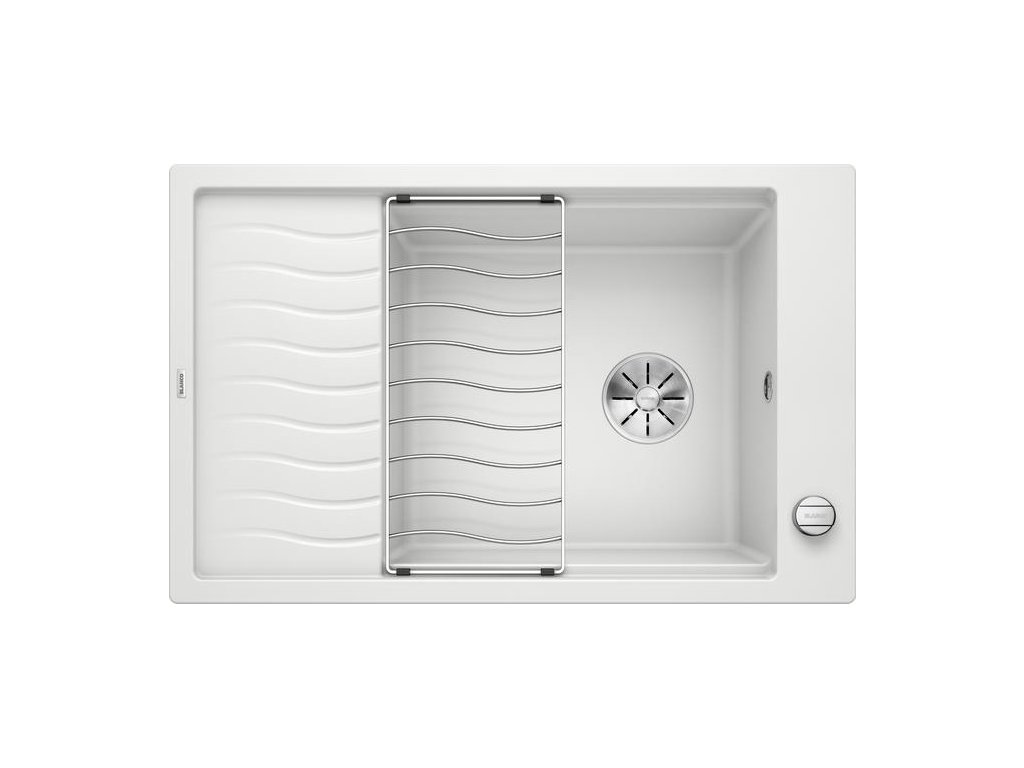 Granitový dřez Blanco ELON XL 6 S F bílá s excentrem a mřížkou