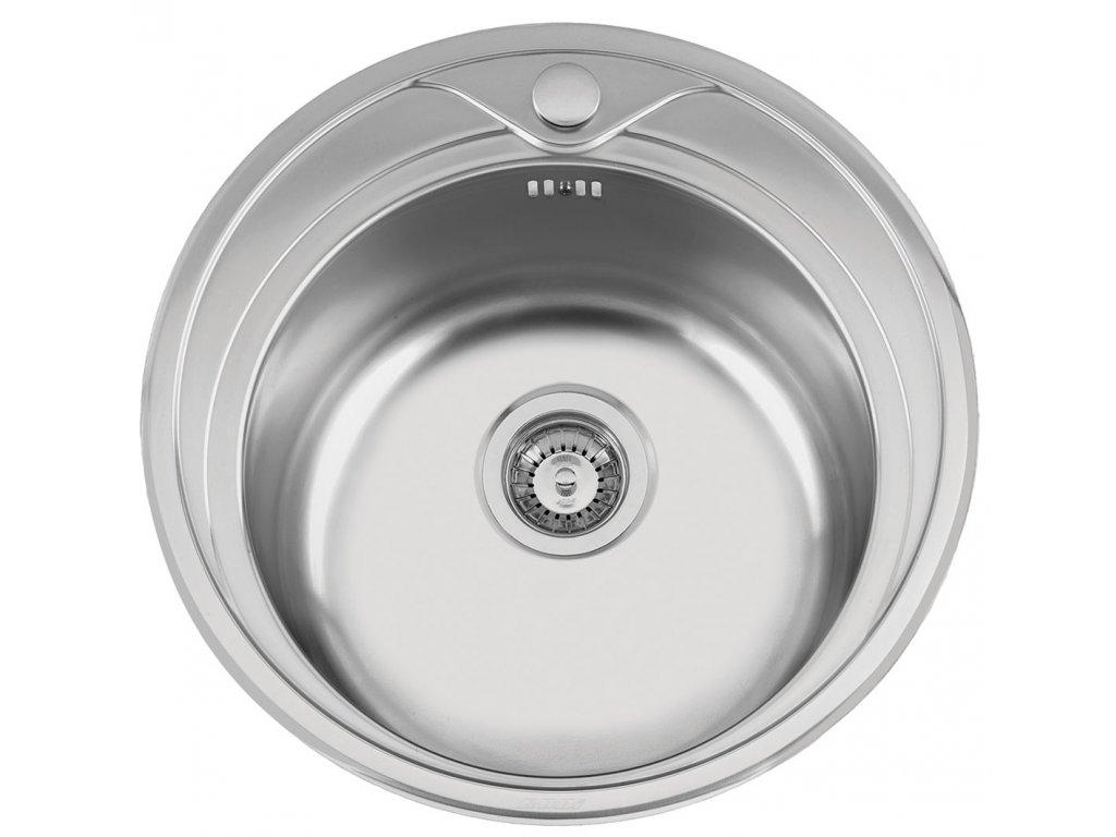 Kuchyňský nerezový dřez Sinks REDONDO 510 M matný