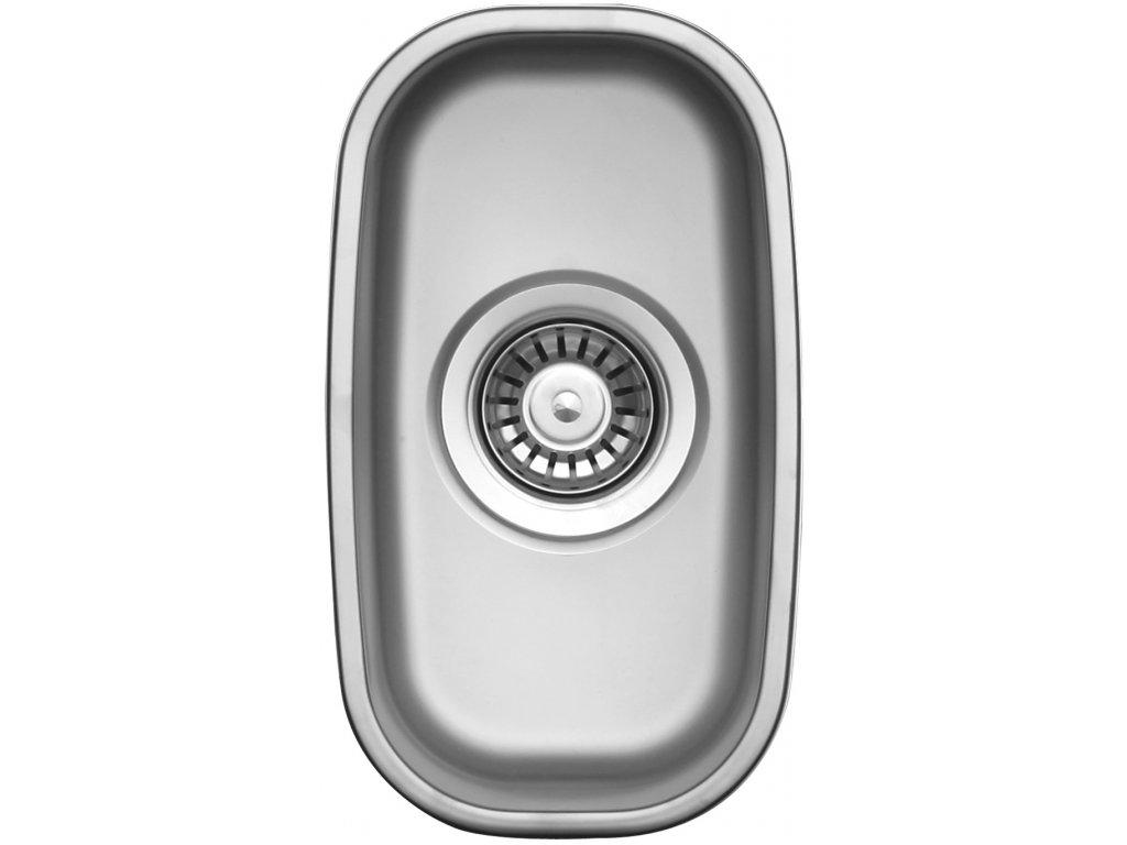 Kuchyňský nerezový dřez Sinks UNDERMOUNT 195 V matný
