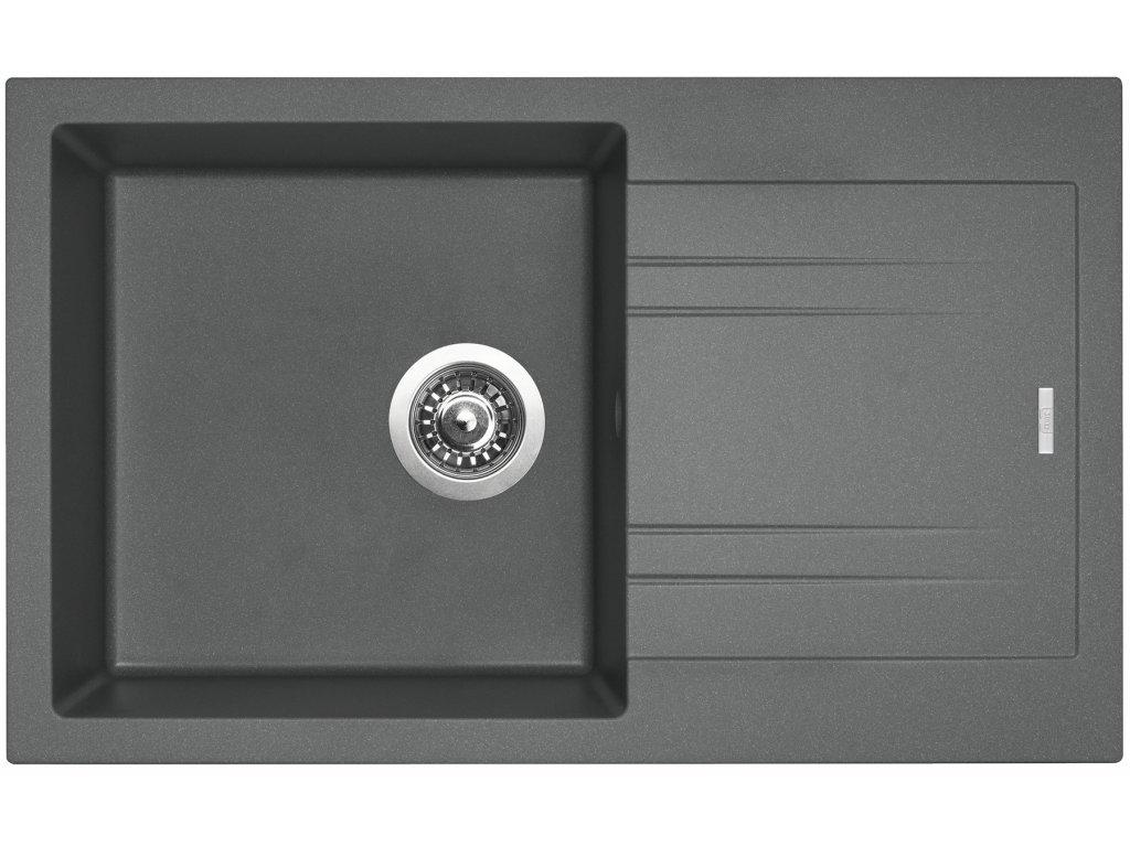 Granitový dřez Sinks LINEA 780 N Titanium  + Sinks čistící pasta