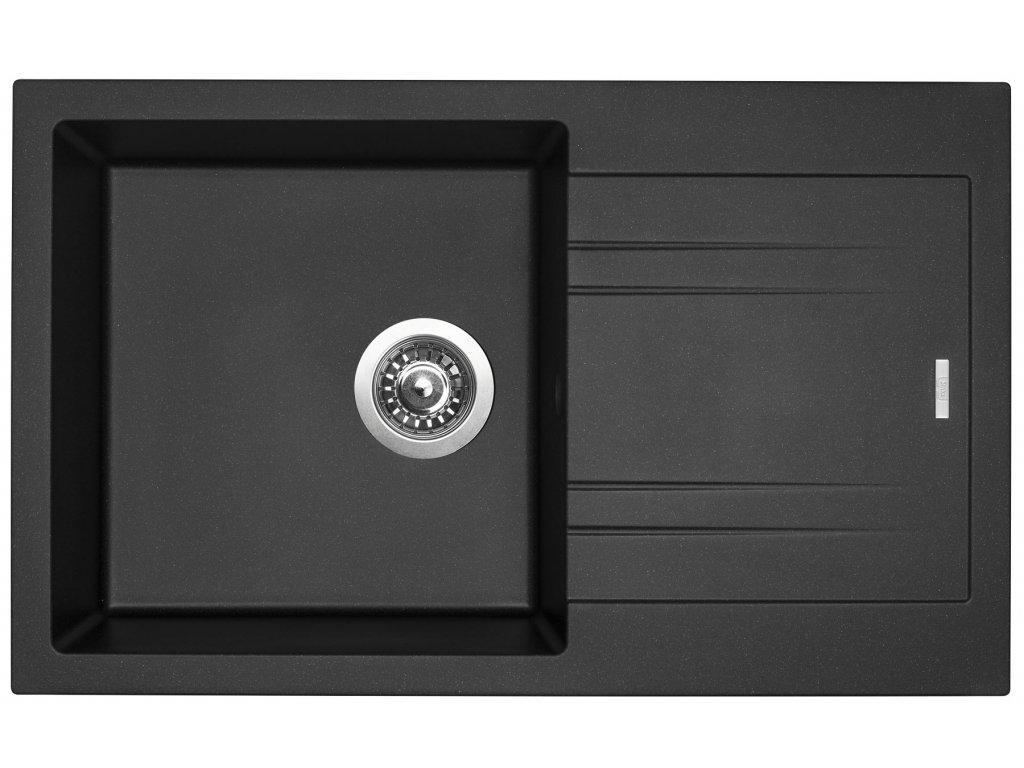 Granitový dřez Sinks LINEA 780 N Metalblack