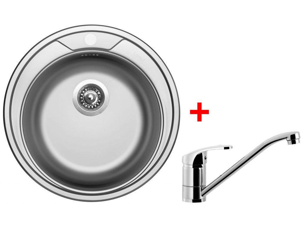 Akční set Sinks ROUND 510 V matný + baterie PRONTO