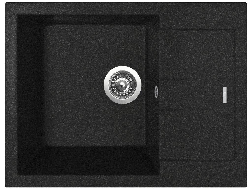 Granitový dřez Sinks AMANDA 650 Granblack - výprodej  + Sinks čistící pasta
