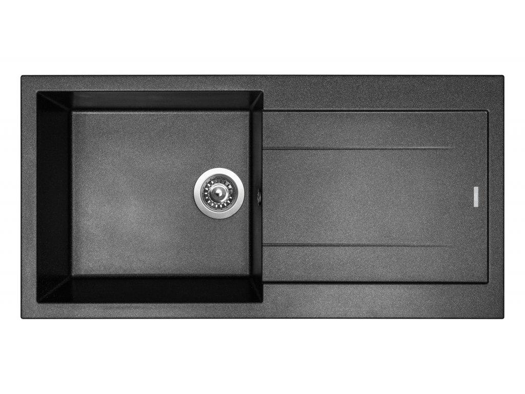 Granitový dřez Sinks AMANDA 990 Metalblack - výprodej  + Sinks čistící pasta
