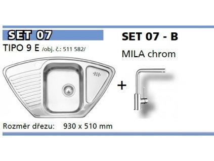 Kuchyňský set Blanco nerez dřez TIPO 9 E + baterie MILA  + Vůně do bytu Areon 85ml