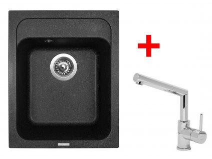 Akční set Sinks CLASSIC 400 Granblack a baterie MIX 350 P lesklá  + Vůně do bytu Areon 85ml