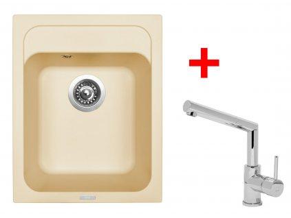 Akční set Sinks CLASSIC 400 Sahara a baterie MIX 350 P lesklá  + Vůně do bytu Areon 85ml