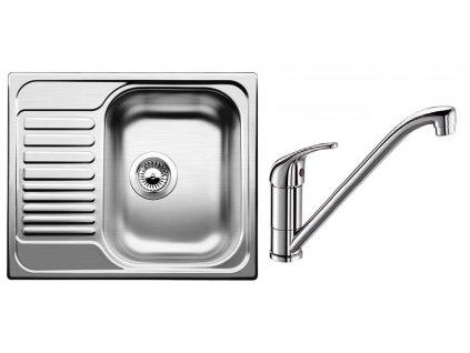 Kuchyňský set Blanco nerez dřez TIPO 45 S mini + baterie DARAS
