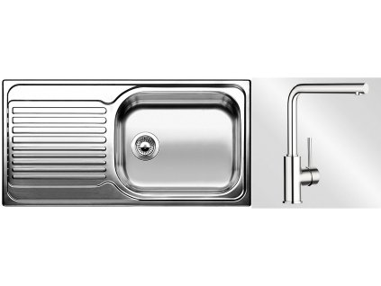 Kuchyňský set Blanco nerez dřez TIPO XL 6 S + baterie MILA  + Vůně do bytu Areon 85ml