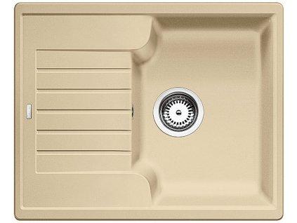 Kuchyňský granitový dřez Blanco ZIA 40 S béžová champagne  + Čistící prostředek BLANCO ANTIKALK 30 ml