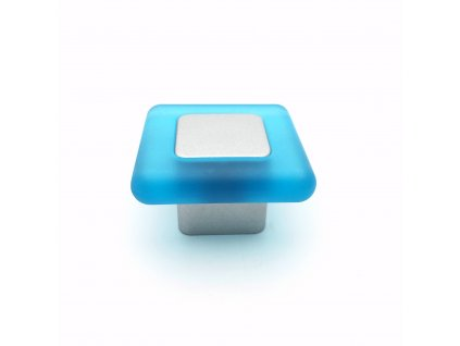 Nábytková dětská úchytka Digi modrá/stříbrná