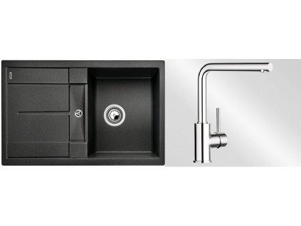 Kuchyňský set Blanco dřez METRA 45 S antracit + baterie Mila  + Čistící prostředek BLANCO ANTIKALK 30 ml