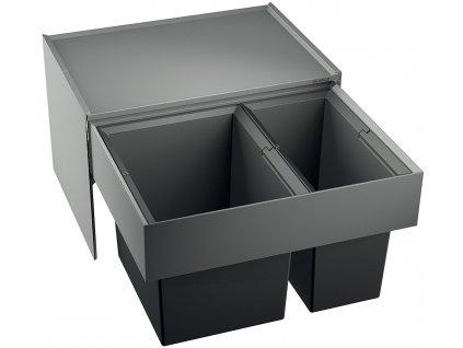 Odpadkový koš Blanco SELECT 60/2 1x30 L, 1x19 L  + Čistící prostředek BLANCO ANTIKALK 30 ml