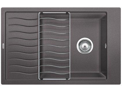 Kuchyňský granitový dřez Blanco ELON XL 6 S šedá skála  + Čistící prostředek BLANCO ANTIKALK 30 ml