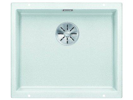 Kuchyňský granitový dřez Blanco SUBLINE 500-U bílá bez excentru  + Čistící pasta Franke Twister 125ml