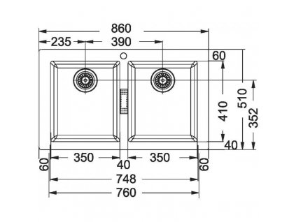 Tectonitový dřez Franke Sirius SID 620 Bílá  + Vůně do bytu Areon 85ml