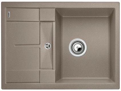 Kuchyňský granitový dřez Blanco METRA 45 S Compact tartufo  + Čistící prostředek BLANCO ANTIKALK 30 ml